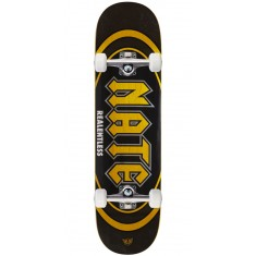 """Real Actions Realized Nate Relentless Skateboard Complete - 8.25"""" - Yellow Stain"""