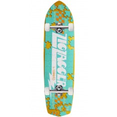 Krooked Piece Out Zagger Skateboard Complete - Yellow Stain