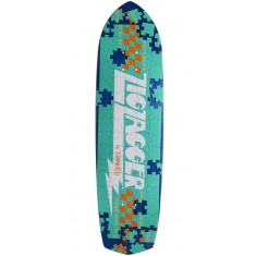 Krooked Piece Out Zagger Skateboard Deck - Blue Stain