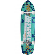 Krooked Piece Out Zagger Skateboard Complete - Blue Stain