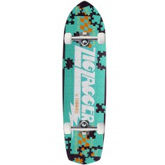 Krooked Piece Out Zagger Skateboard Complete - Purple Stain
