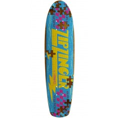 Krooked Piece Out Zinger Skateboard Deck - Brown Stain