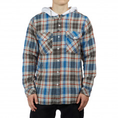 Imperial Motion Parker Hooded Flannel Shirt - Grey