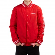 Primitive X Huy Fong Foods Sherpa Varsity Jacket - Red