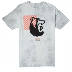 Primitive X Grizzly Bearhaus Washed T-Shirt - Ice Grey Wash