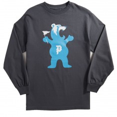 Primitive X Grizzly Mascot Long Sleeve T-Shirt - Charcoal