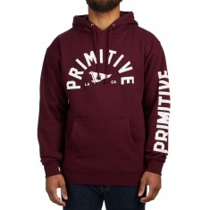 Primitive Big Arch Pennant Pullover Hoodie - Burgundy