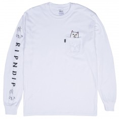 RIPNDIP Lord Nermal Long Sleeve T-Shirt - White