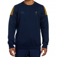 Adidas X Hardies Crewneck Sweatshirt - Navy/Gold