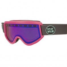 Airblaster Stay Wild Air Snowboard Goggles - Bluebird Lens - Charcoal Pink Matte/Rose Blue Chrome