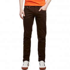 CCS Banks Slim Fit 5 Pocket Twill Pants - Chocolate