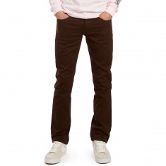 CCS Banks Straight Fit 5 Pocket Twill Pants - Chocolate