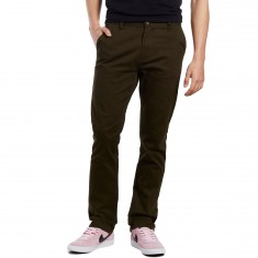 CCS Clipper Slim Fit Chino Pants - Dark Olive
