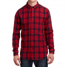 CCS Flannel Long Sleeve Shirt - Burnside Red