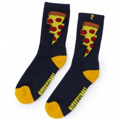 Psockadelic Doughnut  Socks - Navy/Yellow