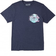 CCS Pink Flamingo T-Shirt - Heather Navy