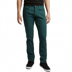 CCS Banks Slim Fit 5 Pocket Twill Pants - Teal