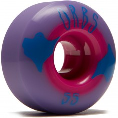 Welcome Orbs Poltergeists Skateboard Wheels - Purple/Neon Pink Core - 55mm 104A