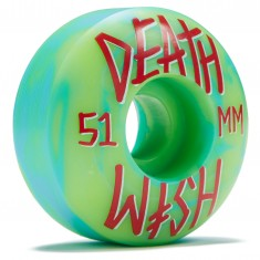 Deathwish Stacked Skateboard Wheels - Green/Blue Swirl