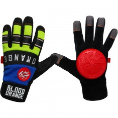 Blood Orange Knuckles Slide Gloves - Blue / Neon Green