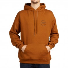 Brixton Wheeler Fleece Hoodie - Copper/Black