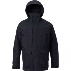 Burton Breach Shell Snowboard Jacket - True Black/True Black Wax