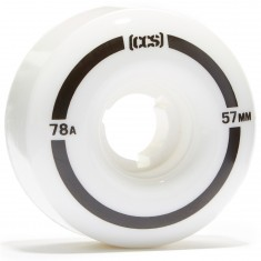 CCS Cruiser Skateboard Wheels - 57mm 78a - White
