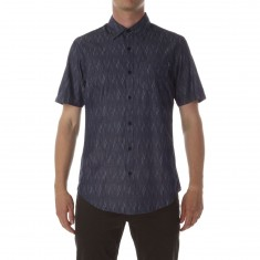 CCS Switch Short Sleeve Woven Shirt - Diamond Pattern