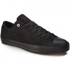Converse CTAS Pro OX Shoes - Black/Black Suede