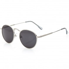 Crap Eyewear The Tuff Patrol Sunglasses - Brushed Silver Wire & Smoke Grey Tips/Grey