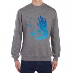 CCS Cyclical Fade Sweatshirt - Heather Charcoal/Blue