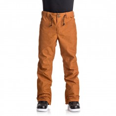 DC Relay Snowboard Pants - Waxed Leather Brown
