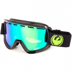 Dragon D1 Snowboard Goggles - Jet/Green Ion with Yellow Blue Ion