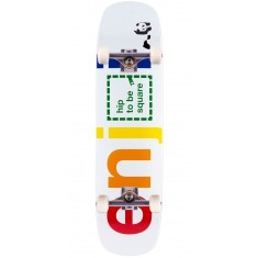 "Enjoi Hip To Be Square R7 Skateboard Complete - White - 8.375"" - Blem"