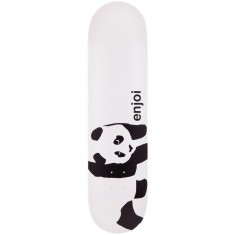 Enjoi Panda Logo Skateboard Deck - Black/White - 7.75""