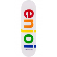Enjoi Spectrum Skateboard Deck - White - 8.0""
