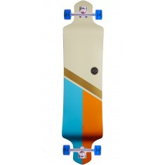 Globe Geminon Drop Down Longboard Complete - Off White/Gold