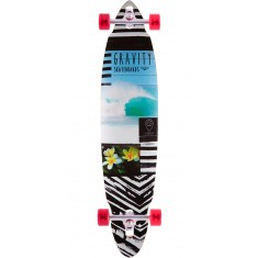 "Gravity 40"" Pin Drop Life's a Beach Longboard Complete"