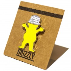 Grizzly Grip Bucket Bear Pin - Yellow