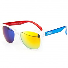 Happy Hour Collin Provost High Tides Sunglasses - Frost Clear/Red/Blue