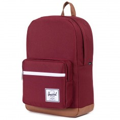 Herschel Pop Quiz Backpack - Windsor Wine/Tan Synthetic Leather