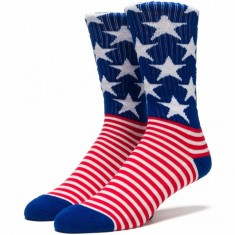 Huf Stars N Pipes Crew Socks - America