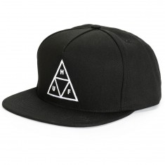 HUF Triple Triangle Snapback Hat - Black