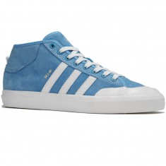 Adidas Matchcourt Mid Marc Johnson Shoes - Light Blue/Neo White/Gold Metallic