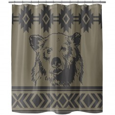 Night Shift X Grizzly Rocky Mountain Shower Curtain - Rocky MTN