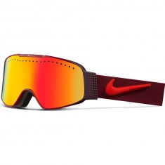 Nike Fade Snowboard Goggles - Team Red/Bright Crimson with Yellow Red Ion