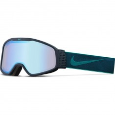 Nike Mazot Snowboard Goggles - Obsidian/Rio Teal with Yellow Blue Ion