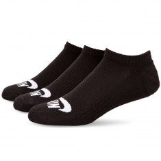 Nike SB 3 Pack No Show Socks - Black/White