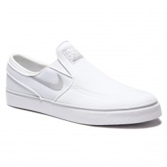 Nike Zoom Stefan Janoski Slip-On Shoes - White/White/Grey