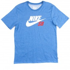 Nike SB DF Icon Reflective T-Shirt - Light Royal Heather/White